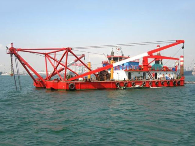 sensor for cutter dredging presentation system